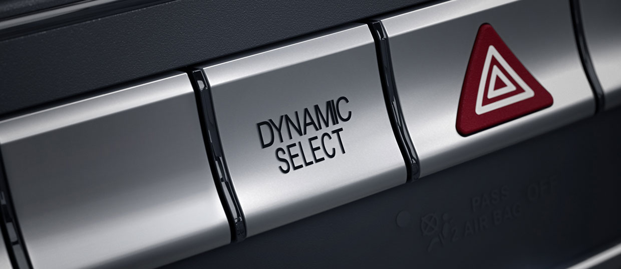 Mercedes Benz GLA SUV Dynamic Select Button