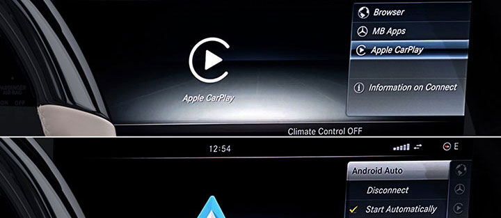 Mercedes Maybach Apple CarPlay and Android Auto