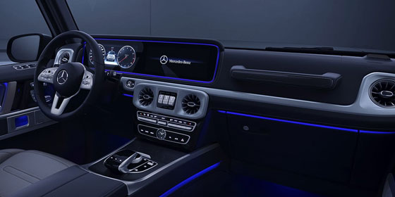 2019 G C;ass Interior with blue LED