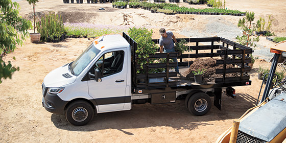 2019 Mercedes-Benz Sprinter Cab Chassis being loaded