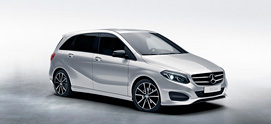 B-Class Model Offer Grey Background