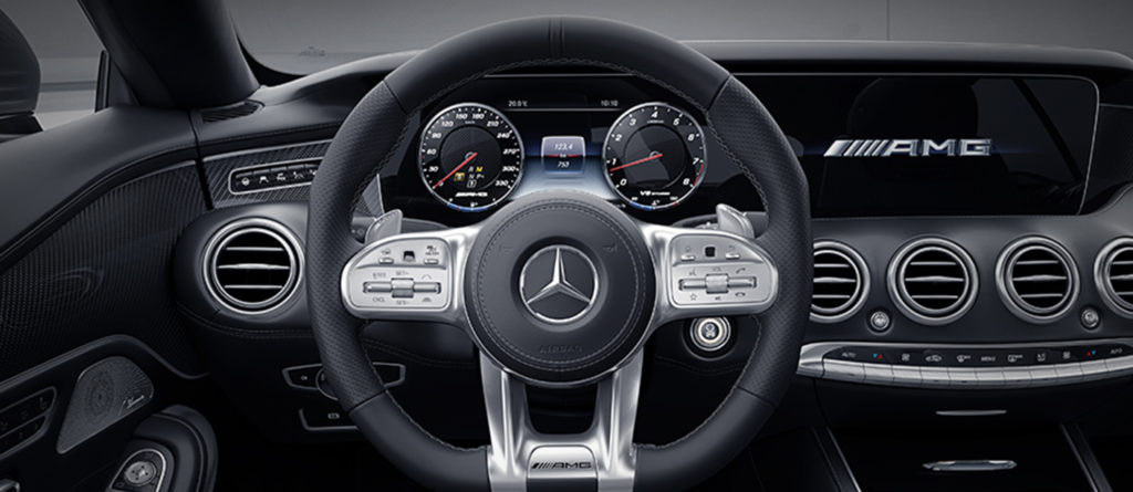 s-class cabriolet Dash and steering wheel