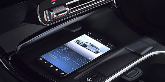 Center console with wireless charge