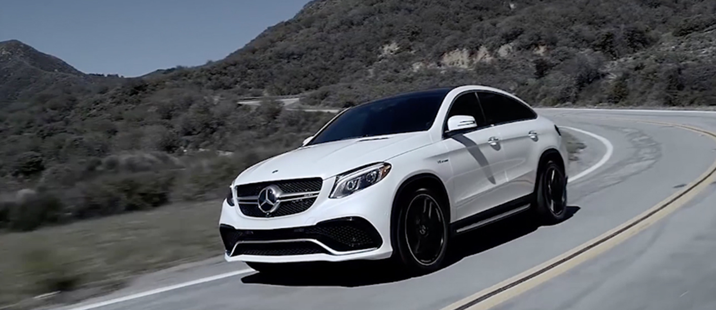 White GLE Driving on a Highway