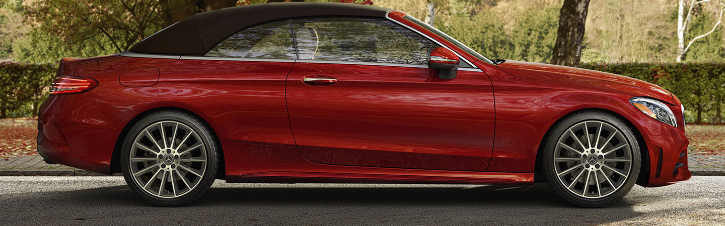 Side View of a Red 2019 C-Class Cabriolet