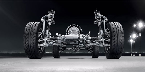 double-wishbone suspension