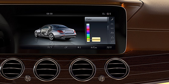 A panoramic 12.3-inch screen