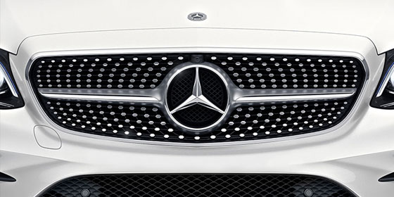 Grill of a E-class Coupe