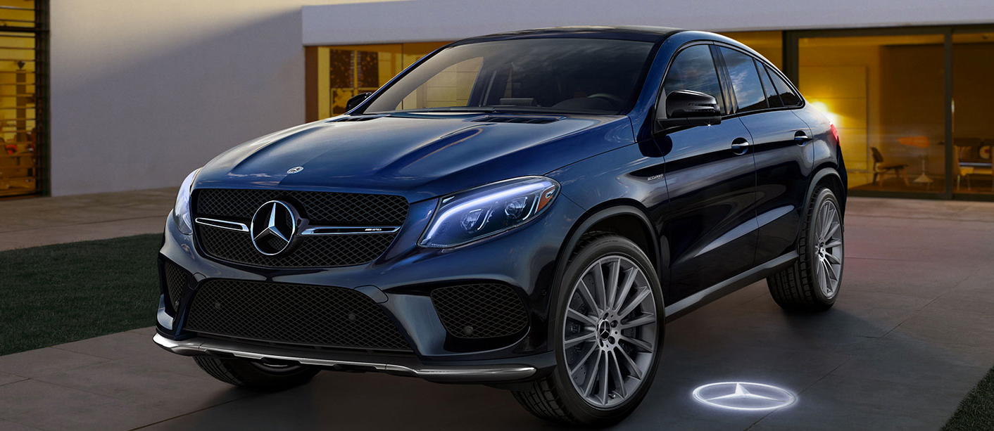 Dark Grey GLE Coupe SUV parked in driveway