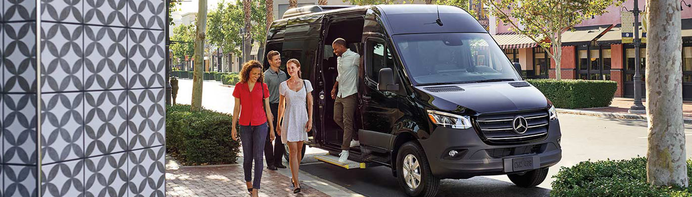 2019 Sprinter Passenger Parked with people leaving vehicle