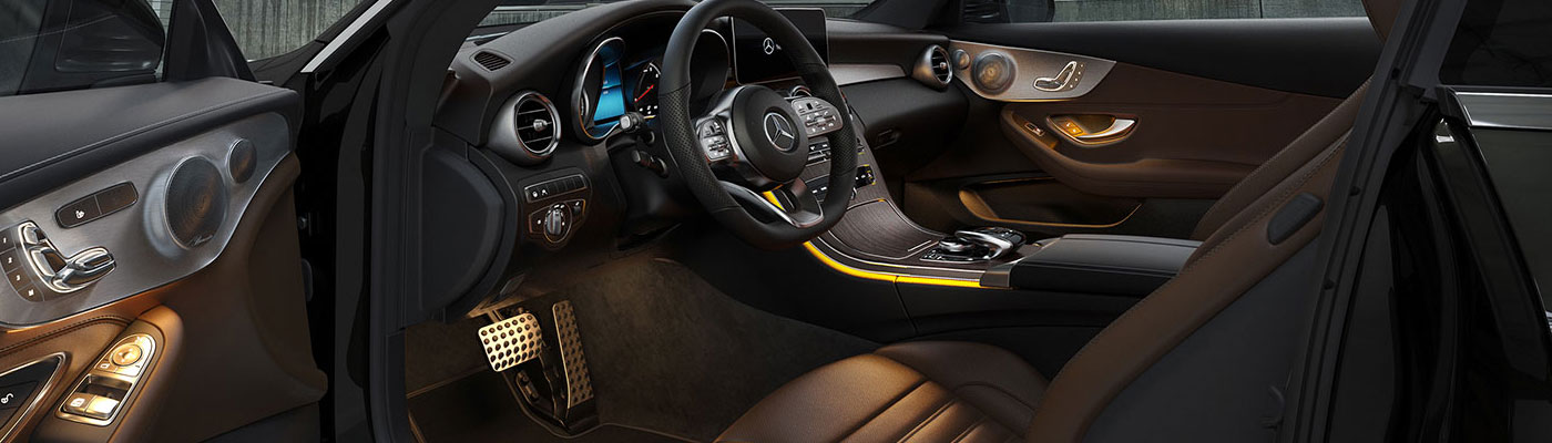 C-Class Coupe Driver door open with interior showing