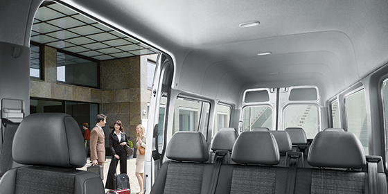 2019 Mercedes-Benz Sprinter Passenger Van interior view with ample head room