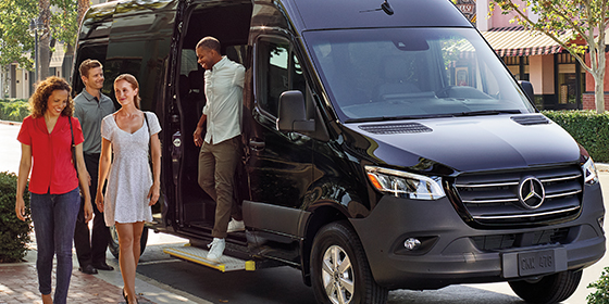 2019 Mercedes-Benz Sprinter Passenger Van electric sliding door and sliding step