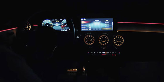 Dark image of the dash