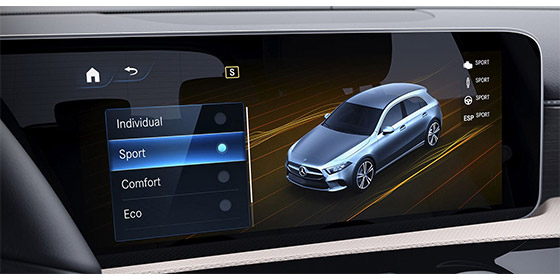 Dynamic dash touch screen