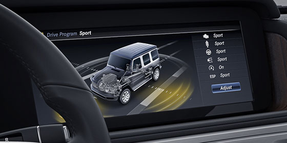2019 G Class AMG Touch screen