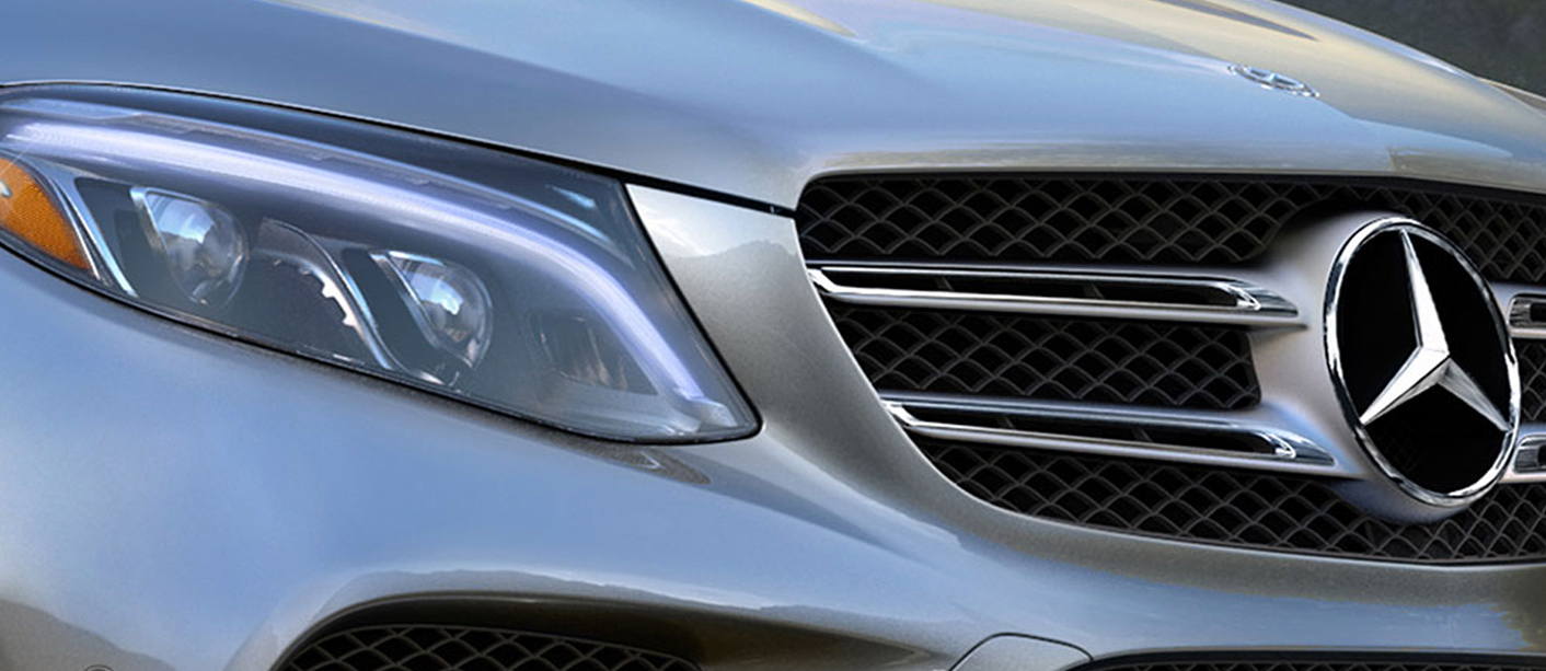 Zoomed in camera angle of the GLE Headlight