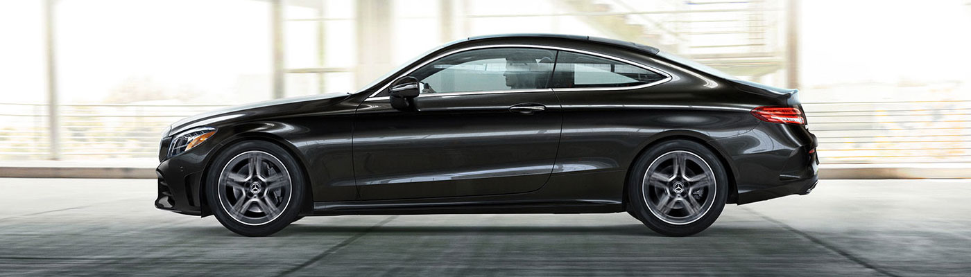 C-class coupe side view
