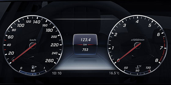 2019 E-class digital dashboard