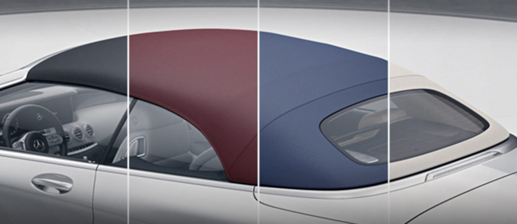 Mercedes-Benz S-Class Cabriolet fabric layer top