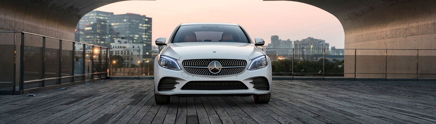 Front View of a 2019-c-class-sedan