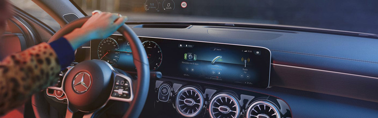 2019 A-class hatchback steering wheel and dash