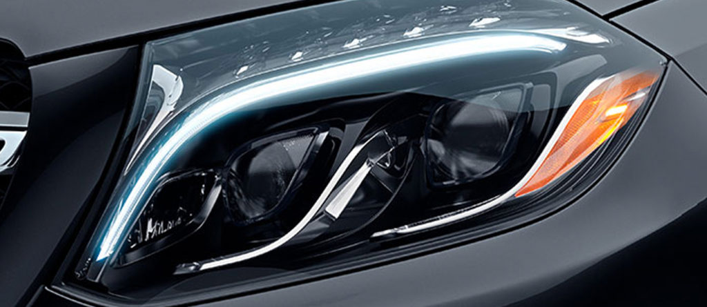 zoomed in image of a 2019 GLS headlight
