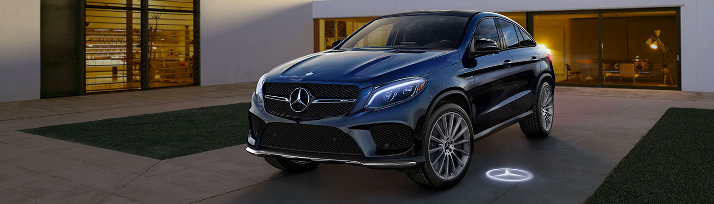 Black GLE Coupe Parked in a driveway