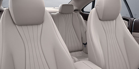 E-class White interior leather seats